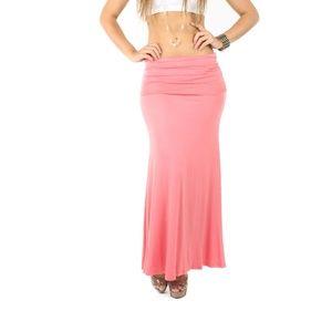 Dresses & Skirts - Papaya Maxi High Band Waist Fold Over Long Skirt